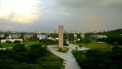 Vista geral da Praça do Relógio, do alto do prédio da Reitoria. Foto: Cecília Bastos / Jornal da USP