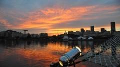 Detalhe de pôr do sol na cidade do Rio de Janeiro. Foto: Cecília Bastos/Jornal da USP