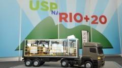 Cúpula da Terra Rio+20. Usina Biodiesel móvel. Foto: Cecília Bastos/Jornal da USP