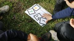 Trilha ecológica. SGA - Superintendência de Gestão Ambiental. Semana do Meio Ambiente. Alunos da Escola de Aplicação participam das atividades. 2017/06/09 Foto: marcos Santos/USP Imagens