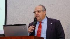 Samuel Ribeiro Giordano no encontro sobre Agroenergia na USP. Foto: Francisco Emolo/Jornal da USP