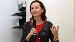 Sandra Grisi, no 1º Workshop Internacional de Cuidados Paliativos no HU/USP. Crédito: Francisco Emolo/Jornal da USP