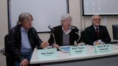 Ildo Sauer, Adnei Melges de Andrade e Pedro Roberto Jacobi. Foto: Francisco Emolo / Jornal da USP