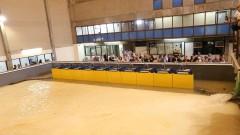 """Inauguração do Simulador Físico de Ondas Espectrais para estudos portuário e costeiros """"Professor Odair José de Souza"""". 2016/10/18 Foto: Marcos Santos/USP Imagens"""