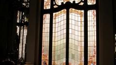 Detalhe de janela (vitral) do Teatro Municipal da cidade de São Paulo que fica na região central. Foto: Cecília Bastos/Jornal da USP
