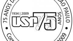 USP - Carimbo comemorativo dos correios - 75 anos