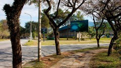 Avenida Professor Luciano Gualberto. Faculdade de Economia, Administração e Contabilidade ao fundo.