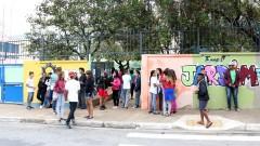 Alunos do ensino fundamental da escola Municipal Jardim da Conquista do bairro de Perus, São Paulo/SP. foto Cecília Bastos/USP Imagem