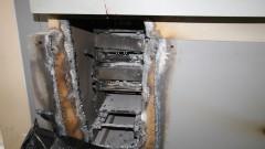 Caixa eletrônico arrombado e furtado - Foto: Pedro Bolle / USP Imagens