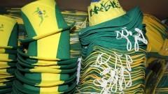 Detalhe de chapéus utilizados por torcedores na Copa do Mundo 2014 no Brasil. Foto: Pedro Bolle / USP Imagens