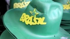 Detalhe de chapéus de torcedores para serem usados na Copa do Mundo 2014 no Brasil. Foto: Pedro Bolle / USP Imagens