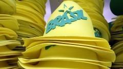 Detalhe de chapéus para serem usados na Copa do Mundo 2014 no Brasil. Foto: Pedro Bolle / USP Imagens