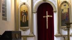 Detalhe de altar da Igreja Ortodoxa de Nossa Senhora (bairro Centro) da cidade de São Paulo. Fotos: Pedro Bolle / USP Imagens