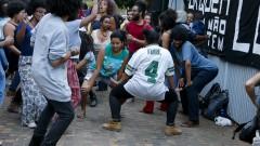 Participantes da virada pró cotas na usp curtem o show do DJ KL Jay, dos Racionais MCs. 28/06/2016 Foto: Marcos Santos